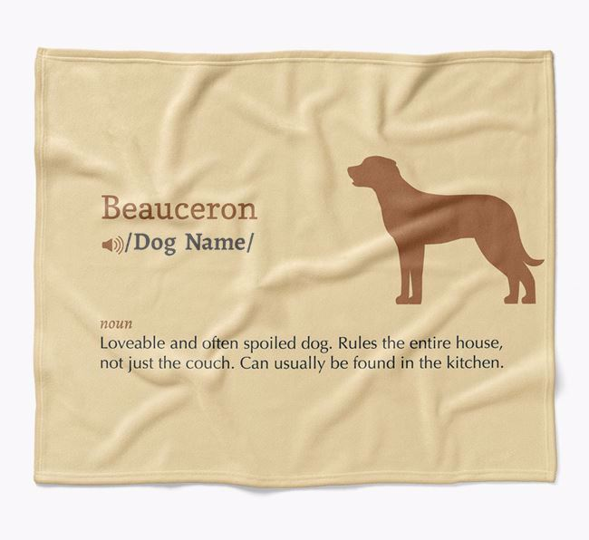 Personalized Definition Blanket with Beauceron Silhouette