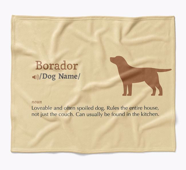 Personalized Definition Blanket with Borador Silhouette