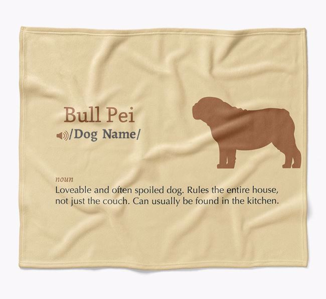 Personalized Definition Blanket with Bull Pei Silhouette