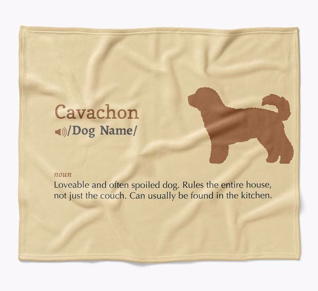 Personalized Definition Blanket with Cavachon Silhouette