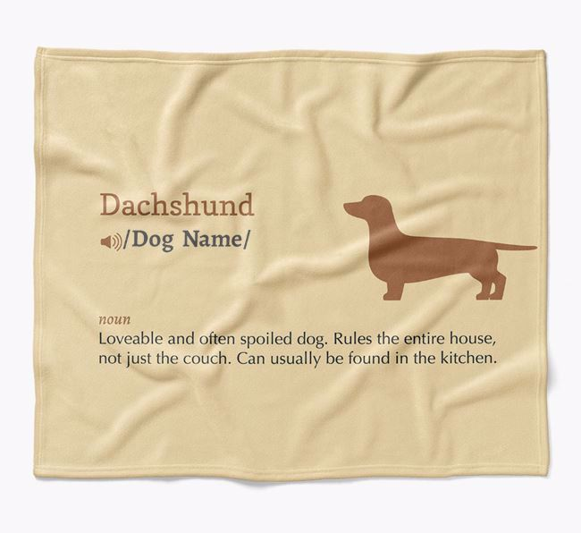 Personalized Definition Blanket with Dachshund Silhouette