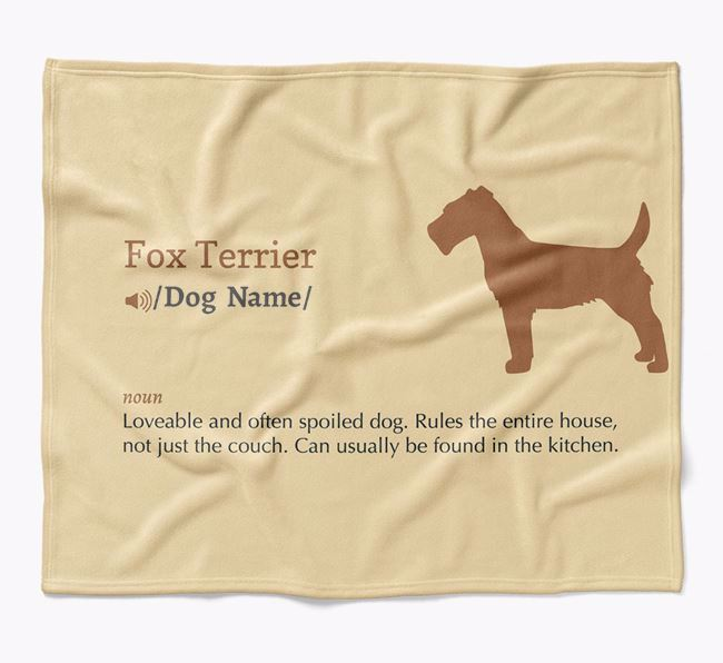 Personalized Definition Blanket with Fox Terrier Silhouette