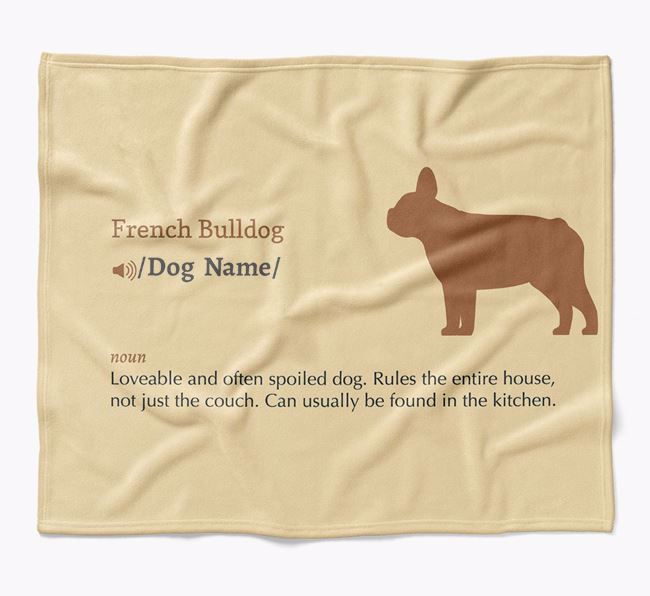 Personalized Definition Blanket with French Bulldog Silhouette
