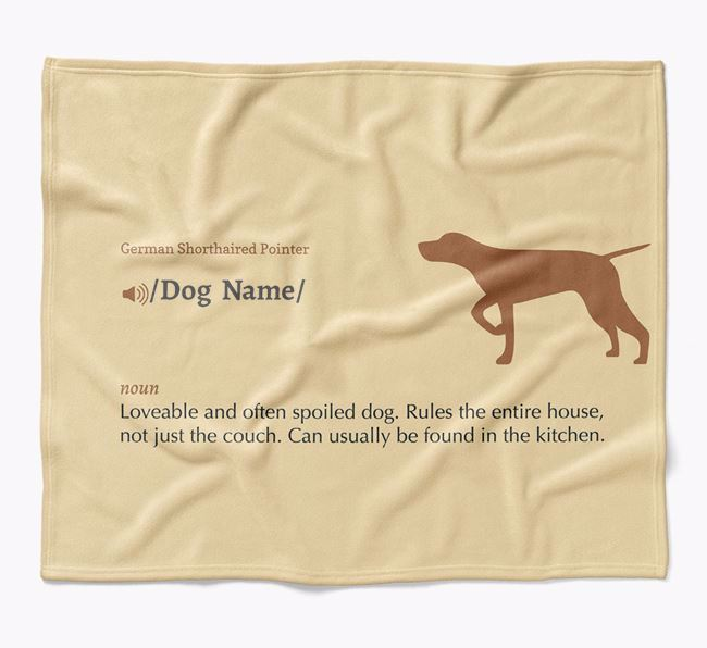 Personalized Definition Blanket with German Shorthaired Pointer Silhouette