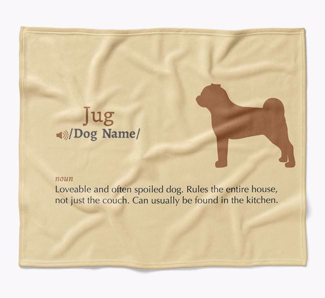 Personalized Definition Blanket with Jug Silhouette
