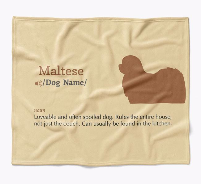 Personalized Definition Blanket with Maltese Silhouette