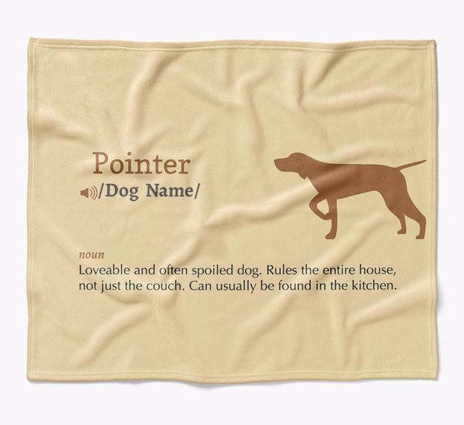 Personalized Definition Blanket with Pointer Silhouette