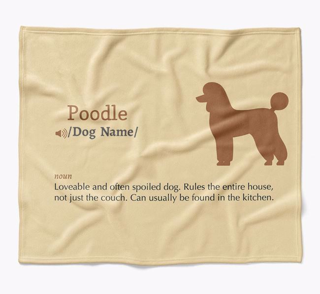 Personalized Definition Blanket with Poodle Silhouette