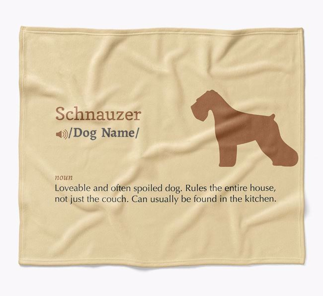 Personalized Definition Blanket with Schnauzer Silhouette