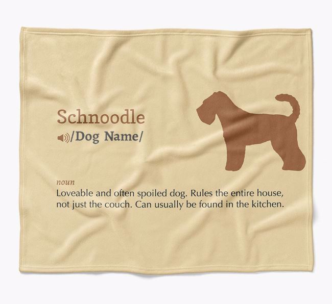 Personalized Definition Blanket with Schnoodle Silhouette