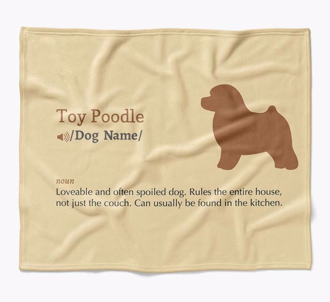 Personalized Definition Blanket with Toy Poodle Silhouette