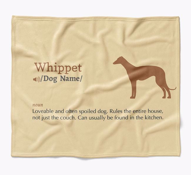 Personalized Definition Blanket with Whippet Silhouette