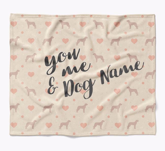 Personalized Hearts Blanket with Beauceron Silhouettes