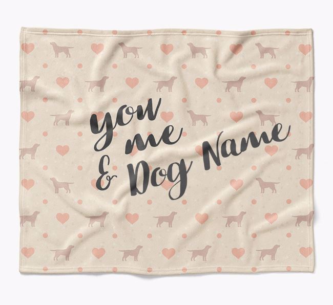 Personalized Hearts Blanket with Borador Silhouettes