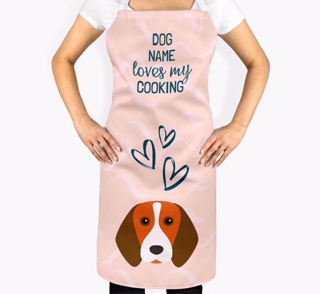 'Your Dog Loves My Cooking' Apron with Beagle Icon