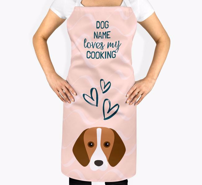 'Your Dog Loves My Cooking' Apron with Foxhound Icon