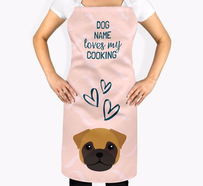 'Your Dog Loves My Cooking' Apron with Frug Icon