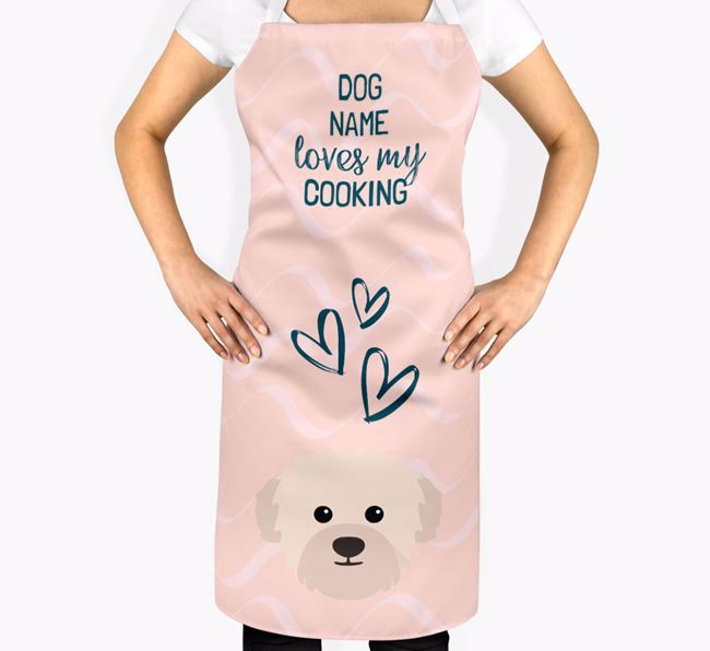 'Your Dog Loves My Cooking' Apron with Westiepoo Icon