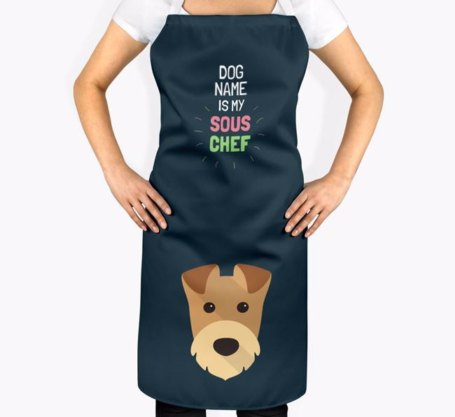 'Your Dog is my Sous Chef' Apron with Airedale Terrier Icon