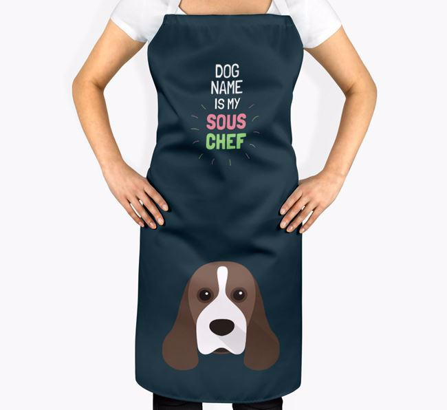 'Your Dog is my Sous Chef' Apron with American Cocker Spaniel Icon