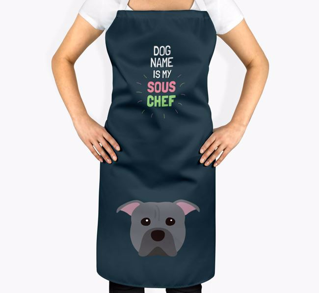 'Your Dog is my Sous Chef' Apron with American Pit Bull Terrier Icon