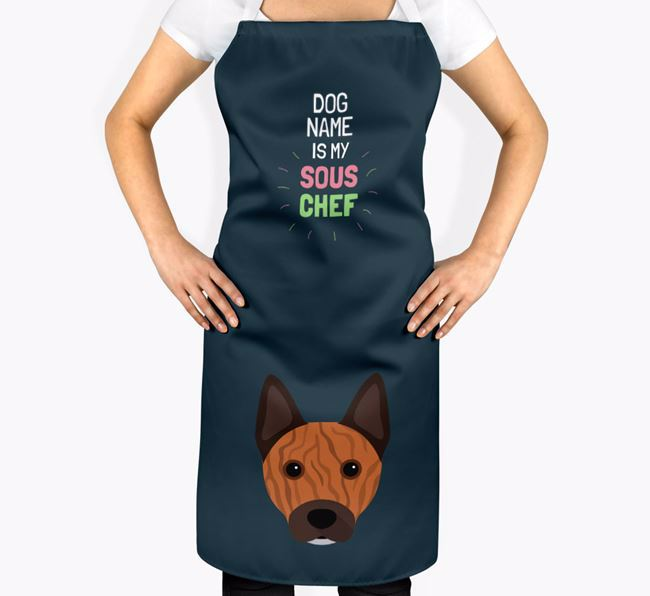 'Your Dog is my Sous Chef' Apron with Australian Cattle Dog Icon