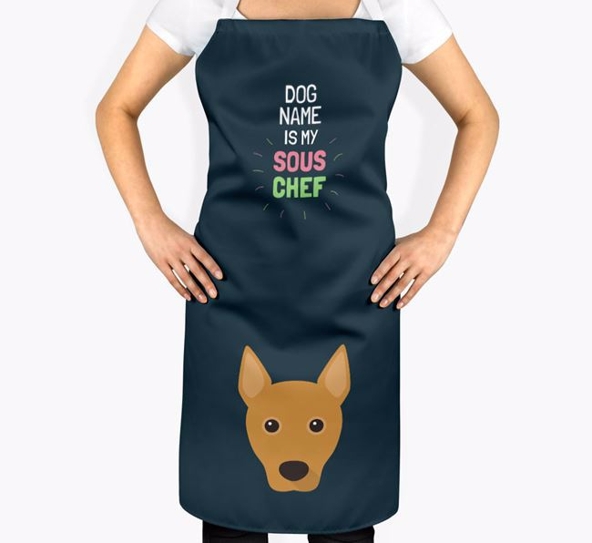 'Your Dog is my Sous Chef' Apron with Basenji Icon