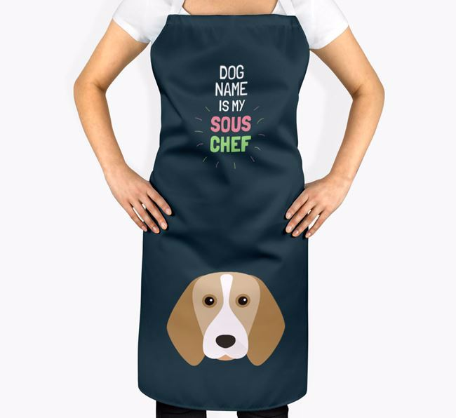 'Your Dog is my Sous Chef' Apron with Beagle Icon