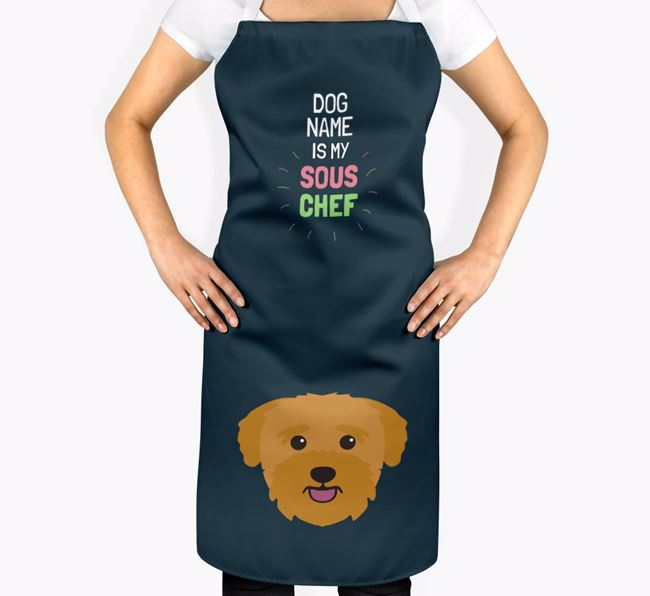 'Your Dog is my Sous Chef' Apron with Bichon Yorkie Icon