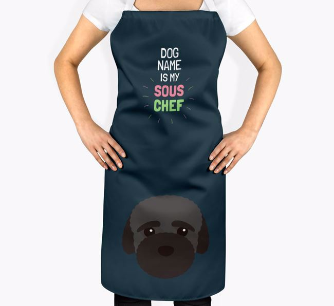 'Your Dog is my Sous Chef' Apron with Bich-poo Icon