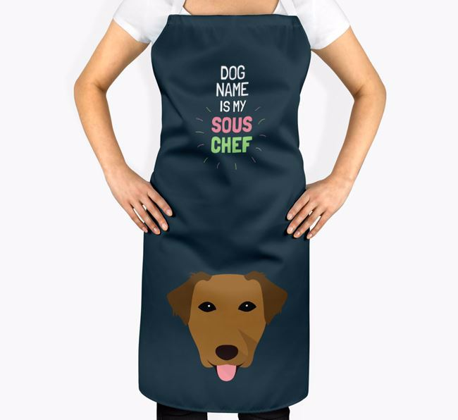 'Your Dog is my Sous Chef' Apron with Borador Icon