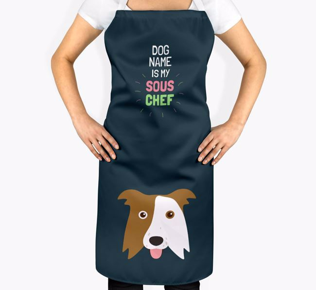 'Your Dog is my Sous Chef' Apron with Border Collie Icon