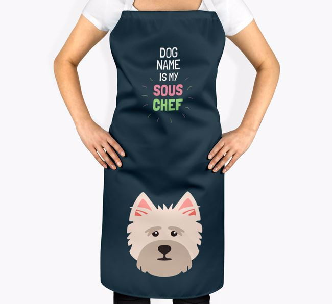 'Your Dog is my Sous Chef' Apron with Cairn Terrier Icon
