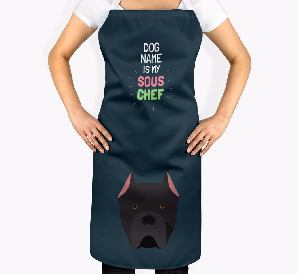 Dog S Name Is My Sous Chef Personalized Cane Corso Italiano Apron Yappy Com