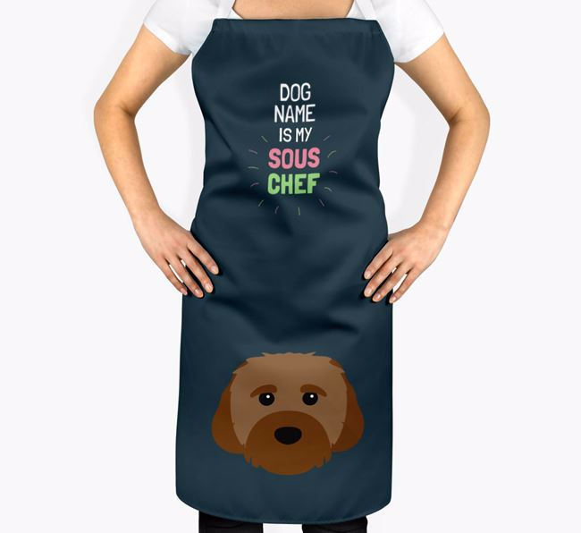 'Your Dog is my Sous Chef' Apron with Cavachon Icon