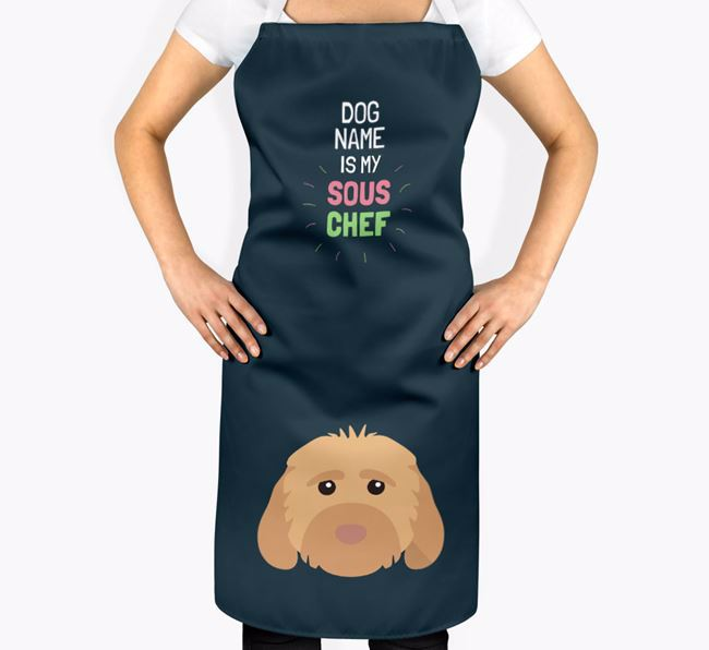 'Your Dog is my Sous Chef' Apron with Cockapoo Icon