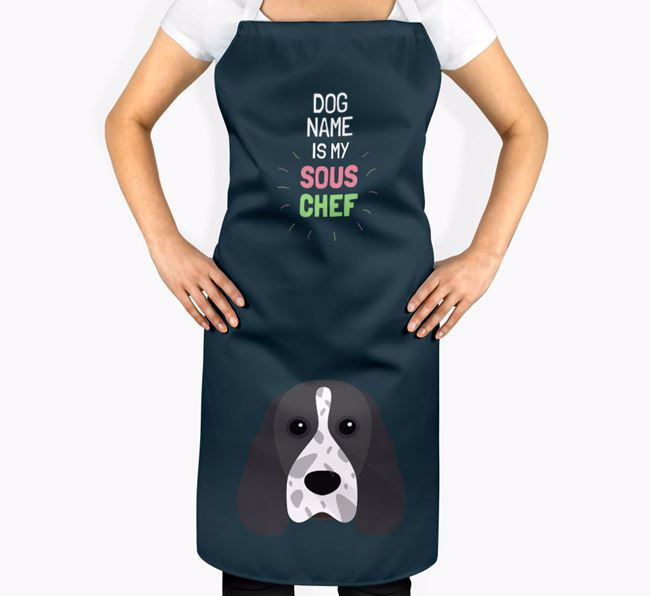 'Your Dog is my Sous Chef' Apron with Cocker Spaniel Icon