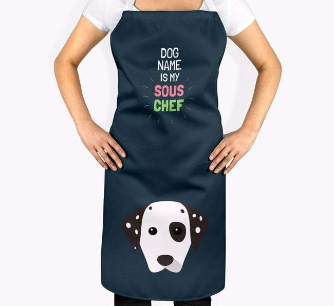 'Your Dog is my Sous Chef' Apron with Dog Icon