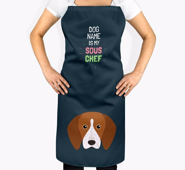 'Your Dog is my Sous Chef' Apron with English Coonhound Icon