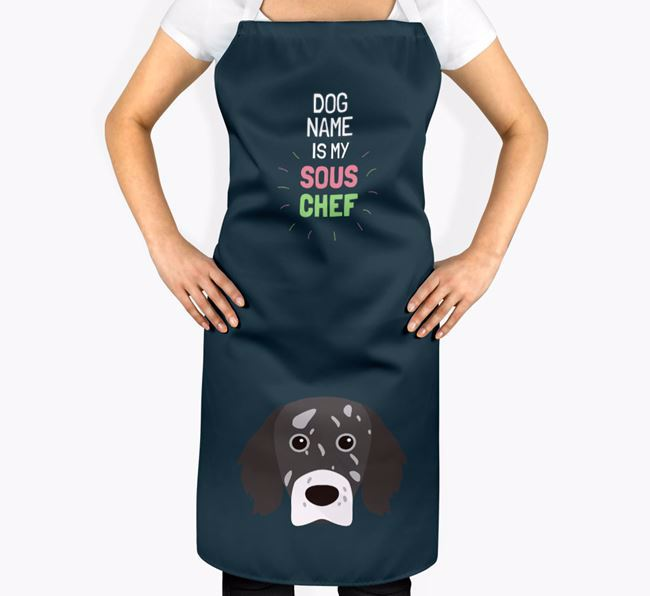 'Your Dog is my Sous Chef' Apron with English Setter Icon
