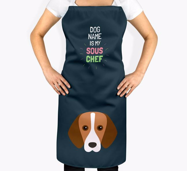 'Your Dog is my Sous Chef' Apron with Foxhound Icon
