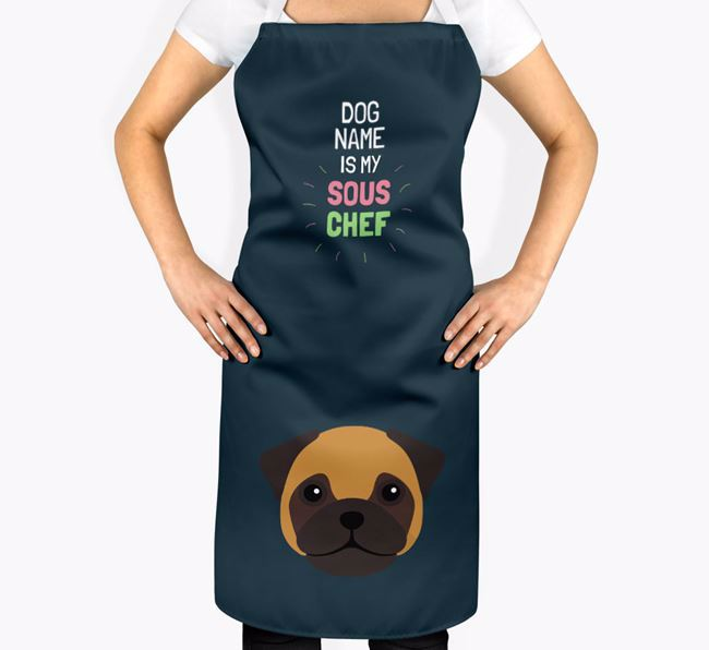 'Your Dog is my Sous Chef' Apron with Frug Icon