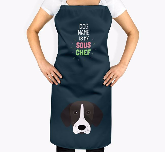 'Your Dog is my Sous Chef' Apron with German Shorthaired Pointer Icon