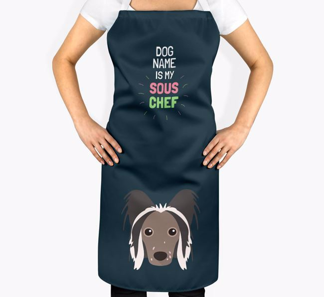 'Your Dog is my Sous Chef' Apron with Hairless Chinese Crested Icon