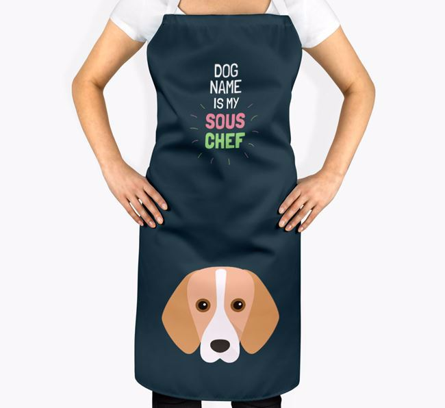 'Your Dog is my Sous Chef' Apron with Harrier Icon