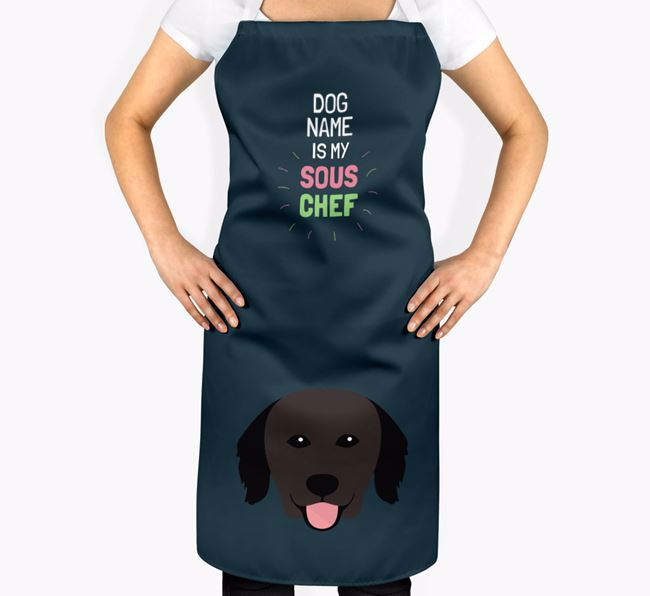 'Your Dog is my Sous Chef' Apron with Hovawart Icon