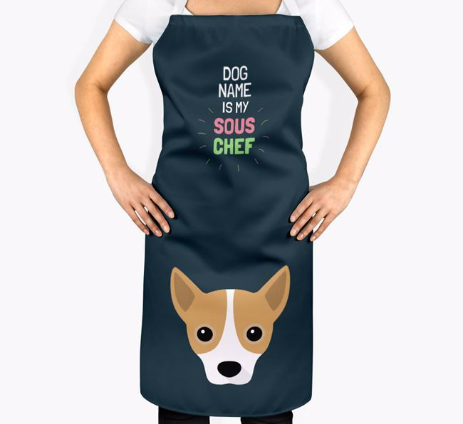 'Your Dog is my Sous Chef' Apron with Jackahuahua Icon