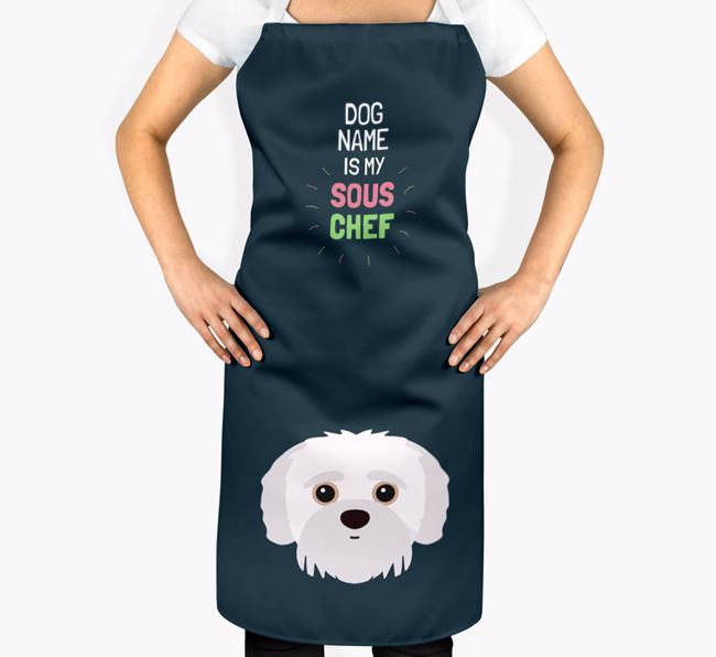 'Your Dog is my Sous Chef' Apron with Jack-A-Poo Icon