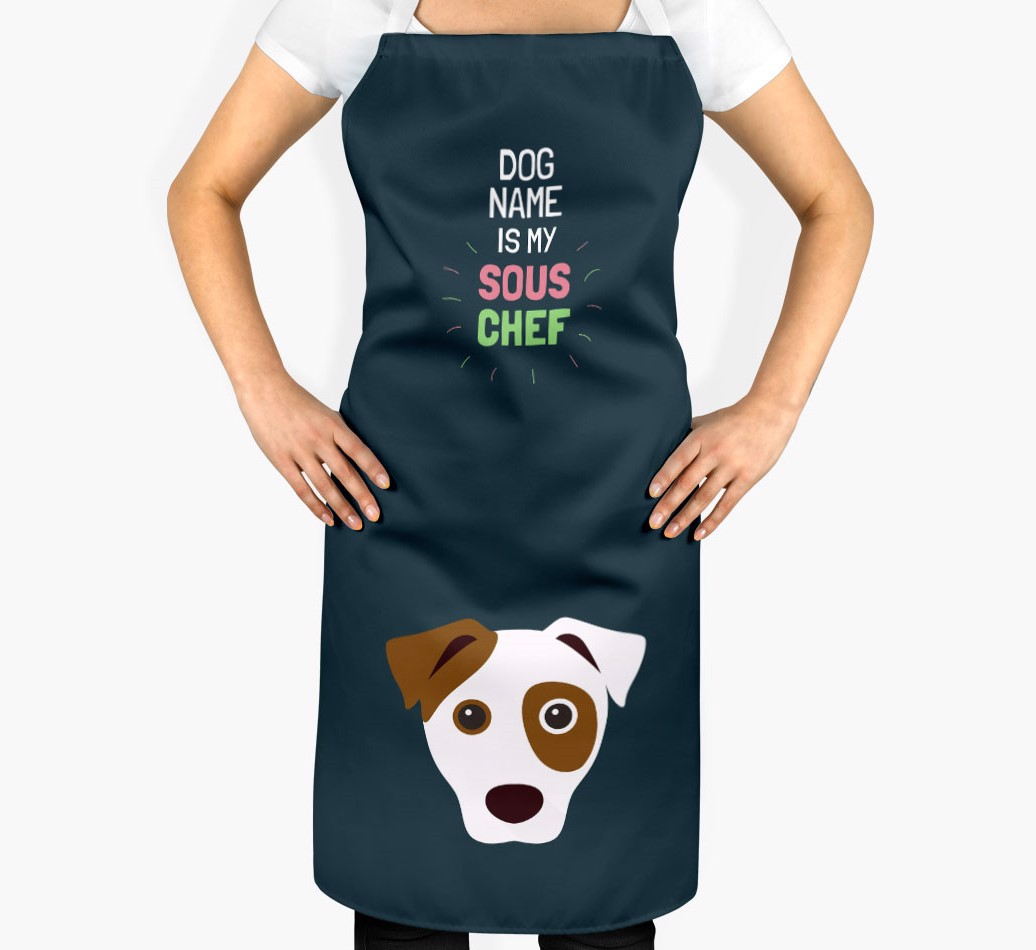 '{dogsName} is my Sous Chef' Apron with Dog Icon