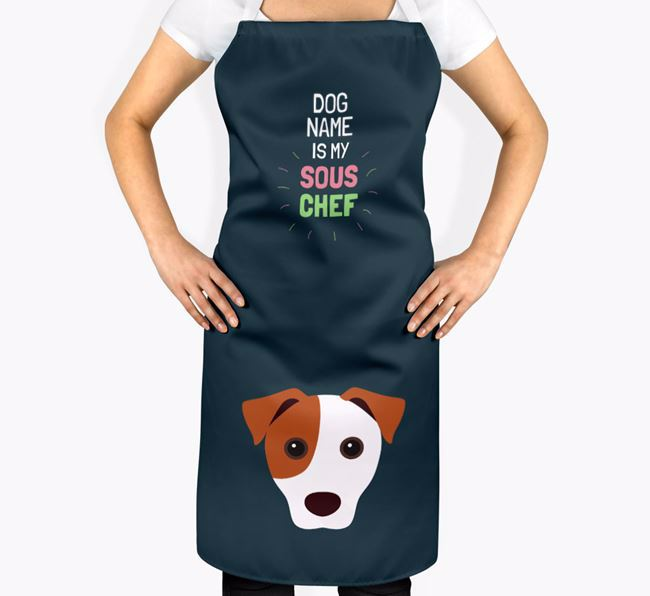 'Your Dog is my Sous Chef' Apron with Jack Russell Terrier Icon